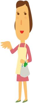 Slender housewife