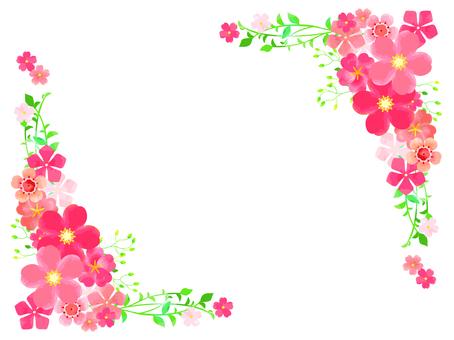 ピンクの春の花01