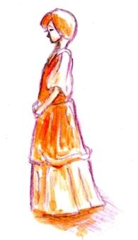 서있는 여자