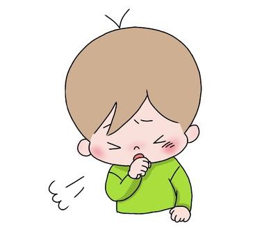 Boy coughing