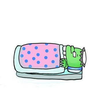Ryutaro Kappa goes to bed