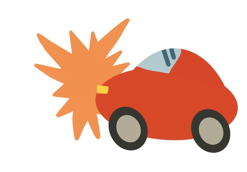 Traffic accident car