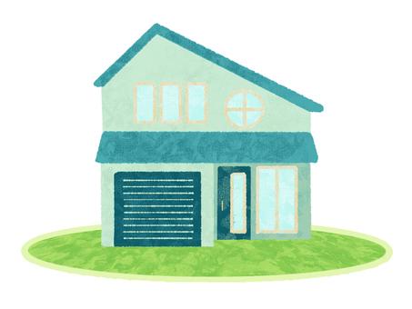 House / Mint Green