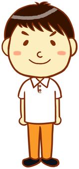 "Polo shirt male ""white"""