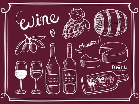 ワインと料理の素材セット