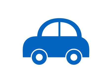 Car Vehicle Silhouette Border Blue