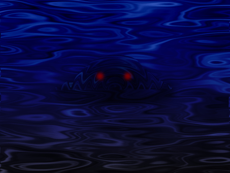 A monster from the water surface