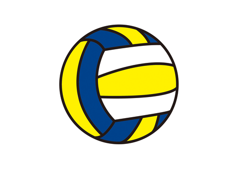 Volleyball Yellow x Blue