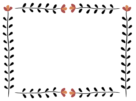 Flower frame - red