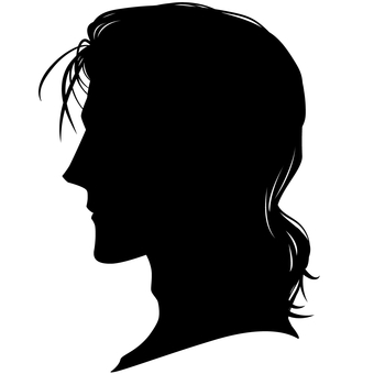 Male hairstyle Side profile silhouette 01