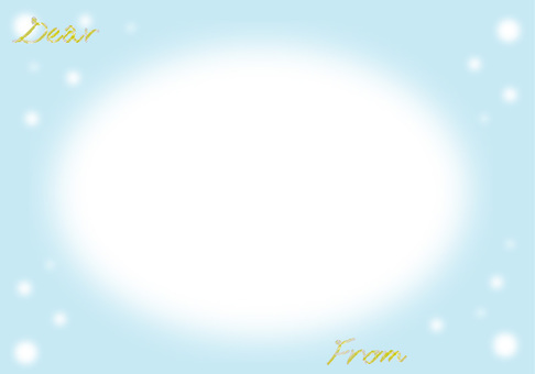 Message card Blur Snow Yellow