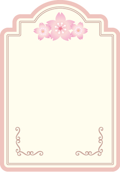 Cherry flower tag frame