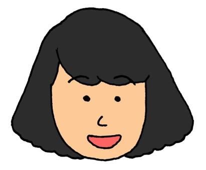 Short hair woman