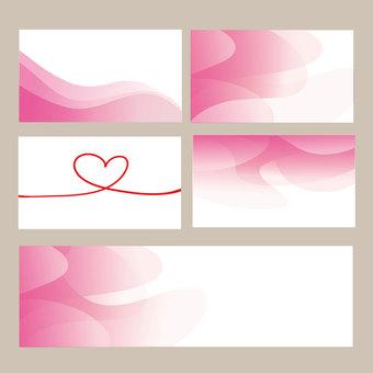 분홍색 명함