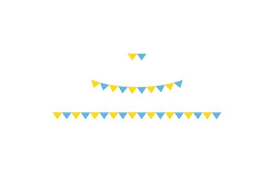 花環◆黃色×藍色