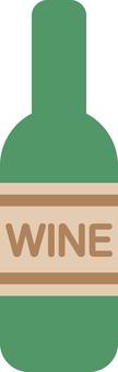 Simple wine bottle