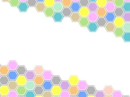 六角形的彩色背景17042301