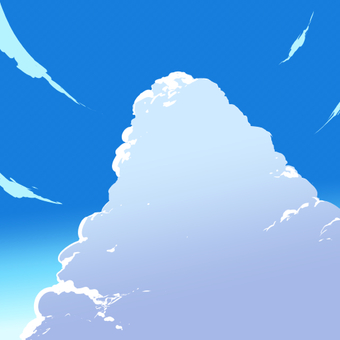 Cloud cover background material