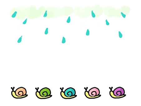 Snail and rain without snails