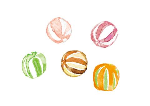 《Watercolor style》 Acorns