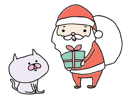 Santa and cat