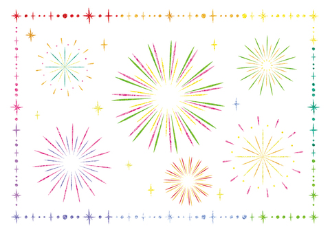 Fireworks (colorful white)