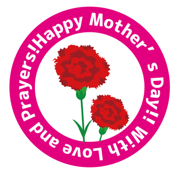 Mother's Day Round Shape 02