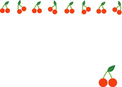 Cherry ornament frame frame