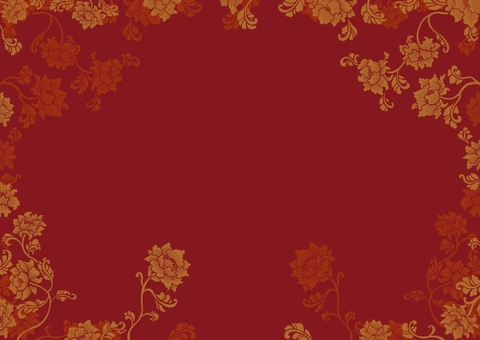 Chinese style flower pattern