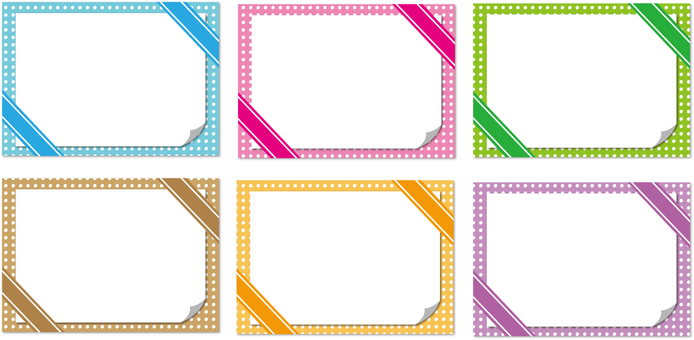Frame with ribbon Each color