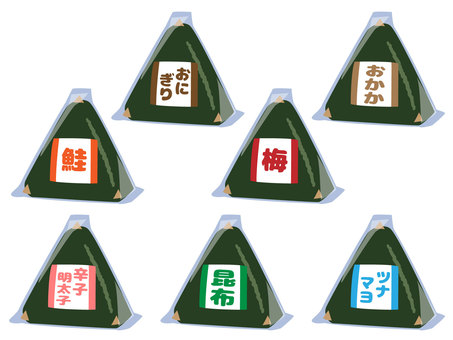 Convenience store onigiri set