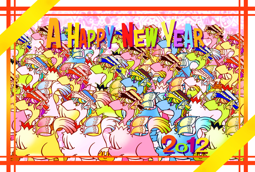 2012 New Year's Card illustration Landscape 1