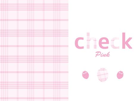 체크 무늬 (핑크)