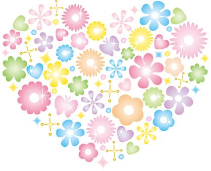 Glittering flower heart (vivid)