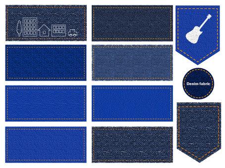Denim cloth material frame 1