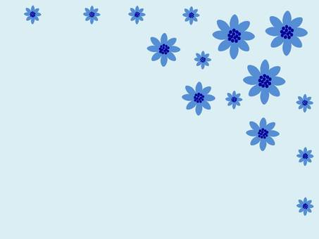 Blue flowers of happiness