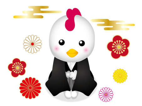 Rooster New Year Illustration 002