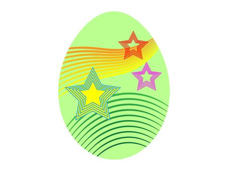 Easter egg star pattern