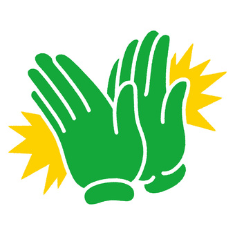 Clapping hand green