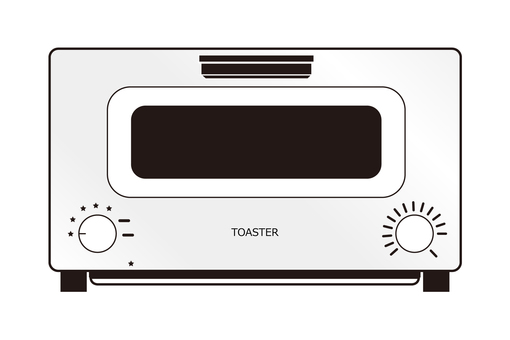 Toaster White Illustration