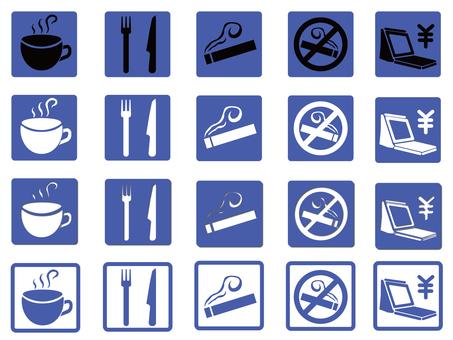 Cafe icon (blue)