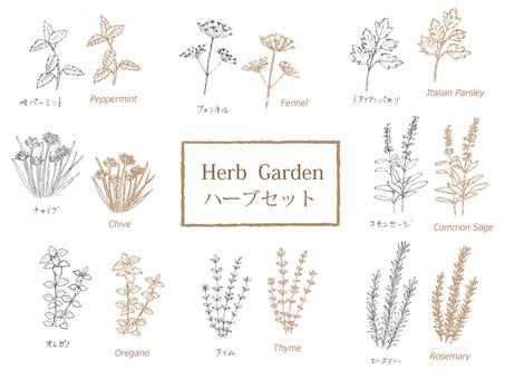 Herb Set - Sepia