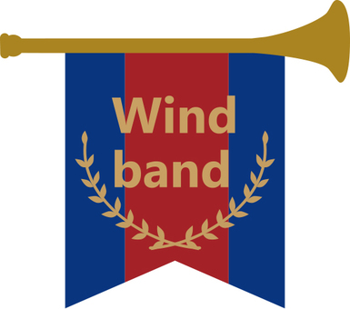 Flag of brass band