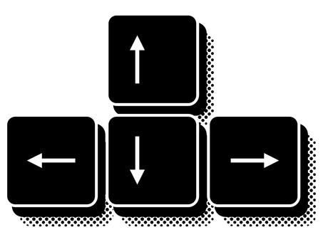 PC arrow keys