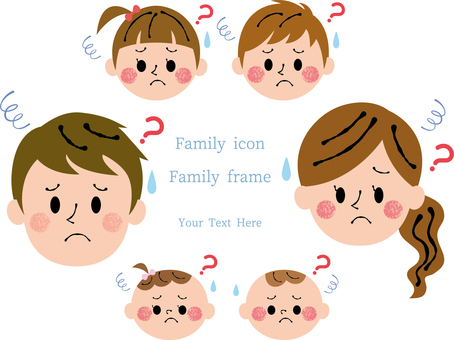 Six-member family troubled set frame