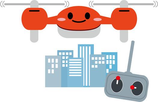 無人機和城市景觀