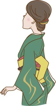 和服形狀的女人
