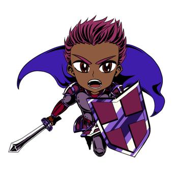 Purple warrior