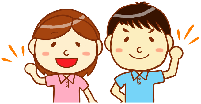 "Polo shirt man and woman ""Pink & light blue"""