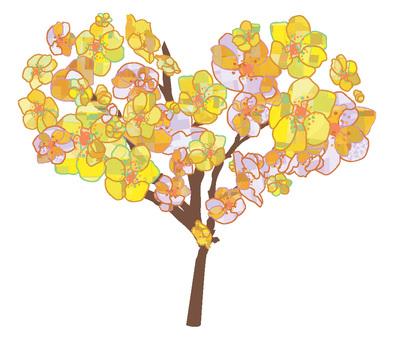 Wax plum heart
